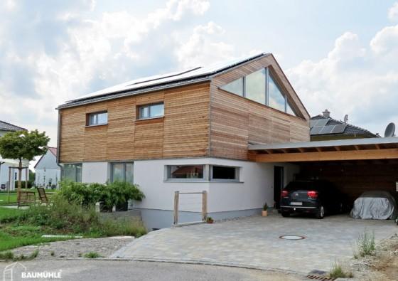 Neubau: Einfamilienhaus in Massiv-Holz-Bauweise 7a