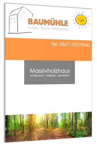 Broschüre Massivholzhaus