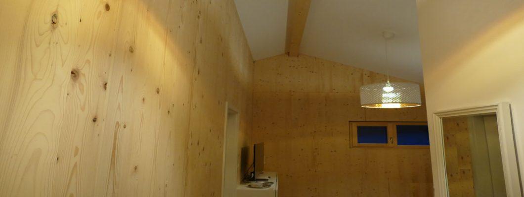 Holzhaus Innenansicht
