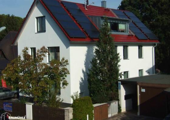 Sanierung zum Sonnenhaus für 3 Parteien